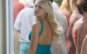 Picture frame, dress, glasses, blonde, The Wolf of Wall Street, The wolf of wall street, Margot …