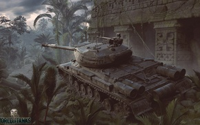 Picture jungle, World of Tanks, Andrey Sarafanov work, Vitaly Timkin composition, Maxim Seredich model, THE IP …