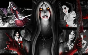 Picture girl, blood, Alice, girl, blood, Alice, Alice Madness Returns