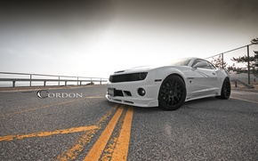 Picture road, white, markup, white, wheels, Chevrolet, camaro, chevrolet, Camaro