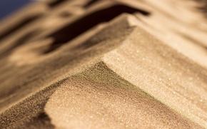 Picture sand, macro, light, desert, barkhan