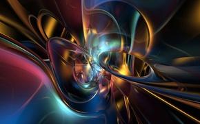 Picture rays, light, Wallpaper, round, Blik, the volume