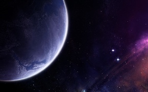 Picture stars, nebula, planet, the atmosphere