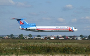 Picture home, airport, flight, the plane, aircraft, flight, airport, Airlines, Airlines, Tu-154, Tupolev, Tupolev, passenger, home, …