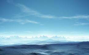 Wallpaper Serenity, horizon, blue