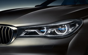Wallpaper headlight, 7-Series, G12, sedan, BMW, BMW