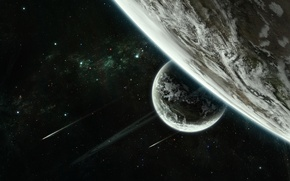 Picture space, stars, planet, space, stars, planets