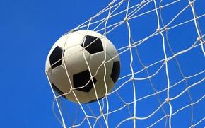 Picture the sky, mesh, football, the ball, goal
