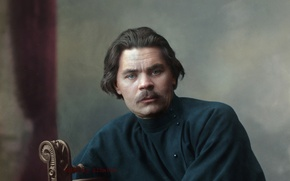 Picture portrait, writer, Maxim Gorky, Alex Peshkov