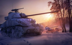 Picture figure, art, medium tank, World of Tanks, Sherman Firefly, client massively multiplayer online game, The …