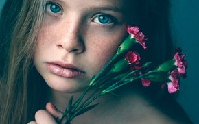 Picture macro, girl, freckles, a bunch, clove