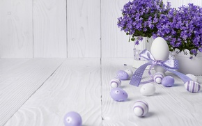 Picture flowers, eggs, Easter, flowers, lavender, spring, Easter, eggs