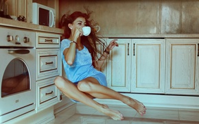 Picture Girl, kitchen, legs