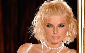 Picture face, necklace, blonde, face, blonde, necklace, Wiska