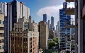 Picture skyscraper, home, Chicago, USA