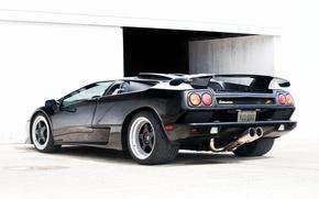 Picture Lamborghini, supercar, black, diablo, back