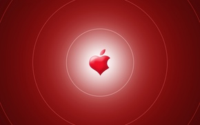 Picture computer, heart, apple, mac