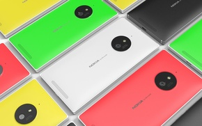 Wallpaper Concept, Tesla, Nokia, Lumia, Smartphone, 830, Back Side
