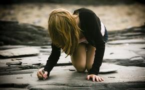 Picture pose, street, mood, figure, Girl, the situation, Legs, Mel, Figure, Slim