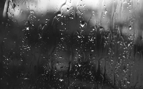 Wallpaper glass, drops, rain