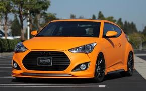Picture turbo, hyundai, orange, veloster