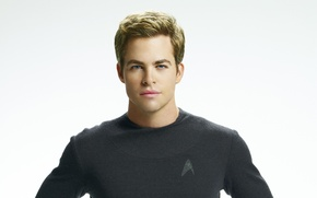 Picture look, actor, white background, Chris Pine, Chris Pine, Star Trek Into Darkness, Star Trek: Nemesis