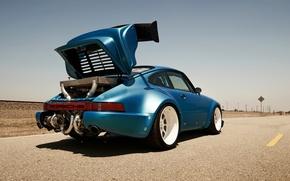 Picture race, desert, track, 911, Porsche, turbo, motor, turbo, turbonetics, Biturbo