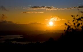 Picture sunset, horizon