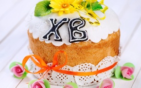 Picture flowers, Easter, cake, cake, cakes, glaze, Easter