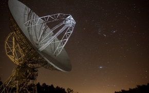 Picture the sky, night, Pisgah Astronomical Research Institute Radiotelescope