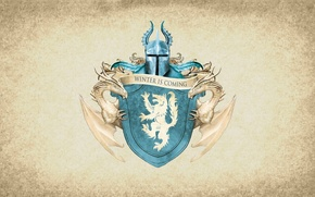 Picture symbol, series, wolf, dragon, A Song of Ice and Fire, Game of Thrones, shield, Stark, ...