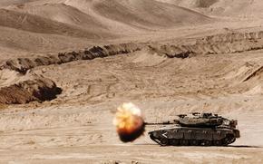 Picture fire, tank, combat, Merkava, main, Merkava, Israel