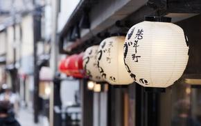 Picture Japan, Kyoto, bokeh, memoirs of a geisha, Lanterns, Pontocho, Hanamachi, Nakagyo-ku