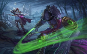 Wallpaper starcraft, warcraft, sylvanas, Heroes of the Storm, zeratul