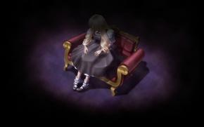 Picture loneliness, fear, punishment, baby, Umineko no Naku Koro ni, in the dark, Beatrice, When the …