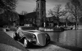Picture trees, bridge, pond, the concept, Church, temple, Rolls-Royce Jonckheere Aerodynamic Coupe II, Ugur Sahin