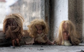 Picture background, doll, window