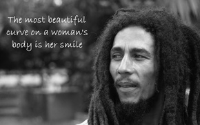 Picture Music, Bob Marley, Hair, Text, Balck&White