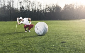 Wallpaper the game, the ball, Golf