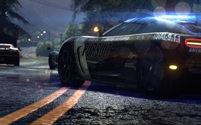 Picture night, police, chase, Koenigsegg, supercars, Need for Speed Rivals