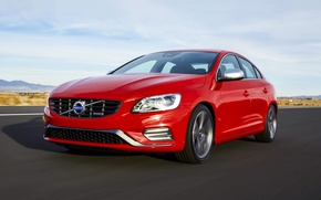 Picture Volvo, red, s60, volvo, front