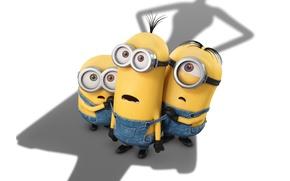 Picture cinema, yellow, movie, film, shadow, Minions, Minion, goggles, shadow villain, coveralls