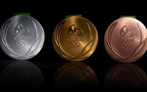 Picture medals, Brazil, Summer Olympic games, Rio 2016, Summer Olympic Games 2016