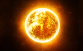 Picture yellow, sun, Sci Fi