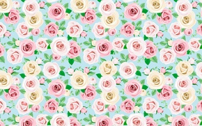 Picture flowers, pattern, roses