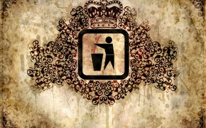 Wallpaper sign, pattern, crown, spot