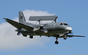 Wallpaper the plane, flight, AEW&C, and management, Can be 340, detection, radar, far