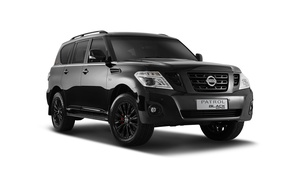Wallpaper black, white background, Nissan, Black, Nissan, Patrol, patrol