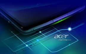 Picture laptop, brand, Acer, aspire
