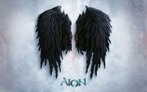 Picture Aion, Black, Wing, Evill